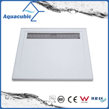 Sanitary Ware High Quality Square 90X90 SMC Bathroom Shower Base with Grate (ASMC9090-3)